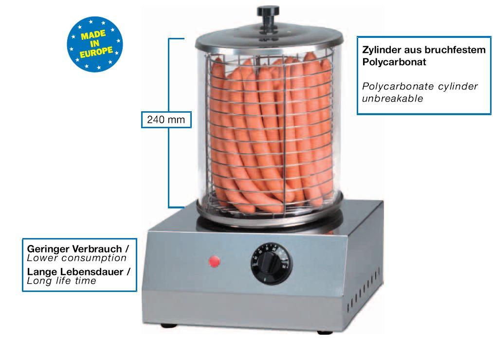 hot dog ger t modell cs 100 gastro onlineshop24. Black Bedroom Furniture Sets. Home Design Ideas